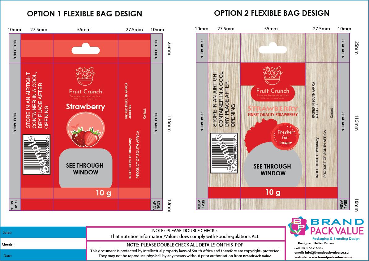 flexible bag artwork for approval